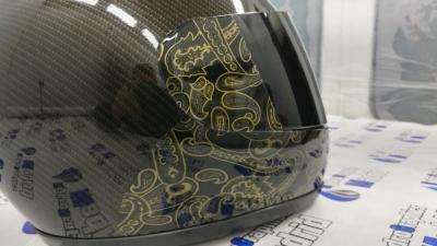hidroimpresion carbono casco
