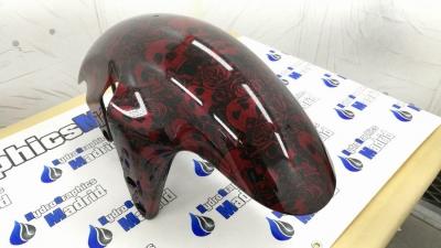 hidroimpresion calaveras rojas
